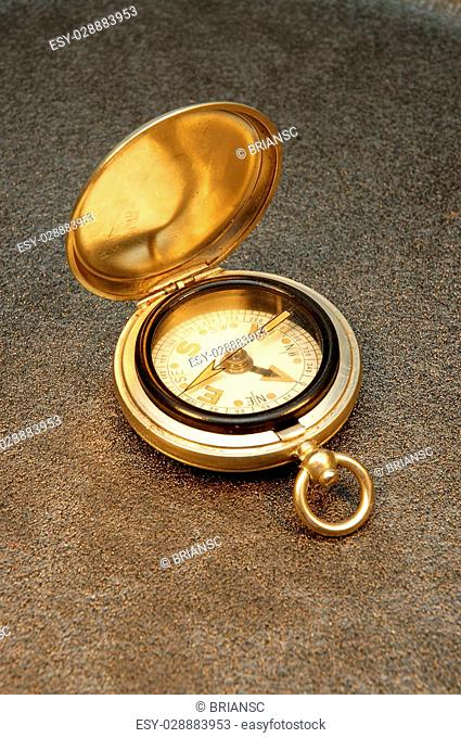 Pocket watch style old compass