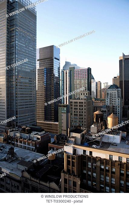 USA, New York, New York City, Manhattan skyline