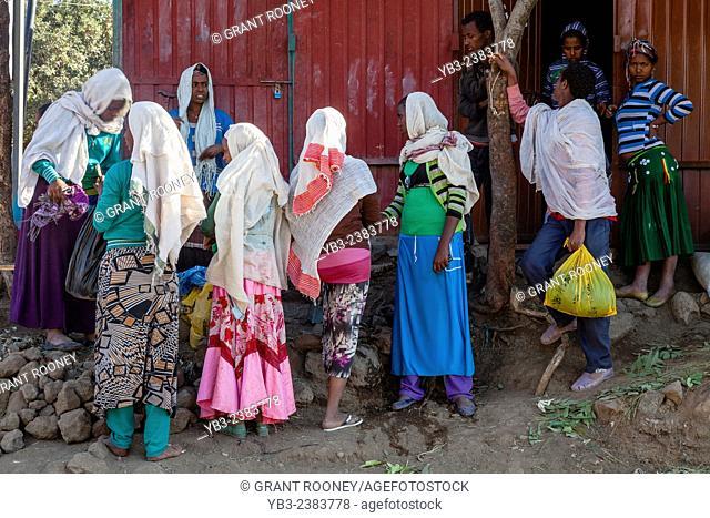 Local People At Christmas Time, Lalibela, Ethiopia