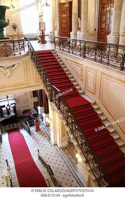 Stairs. Hermitage Museum in Winter Palace. St. Petersburg. Russia