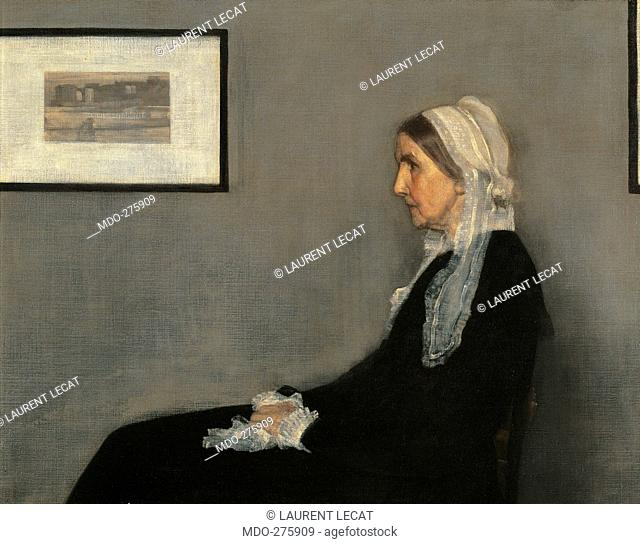Arrangement in Gray and Black No. 1 (Portrait of the Painters Mother), by Unknown Artist, 1871, 19th Century, oil on canvas, cm 144,3 x 162,5