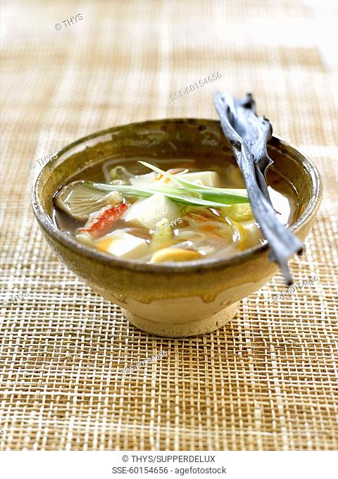 Miso and tofu soup
