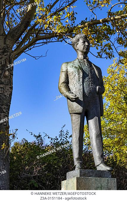 Statue of Olafur Thor at the Hallargardurinn park in Reykjavik, Iceland