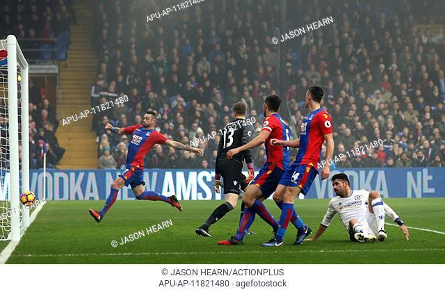 2016 Premier League Football Crystal Palace v Chelsea Dec 17th. 17.12.2016. Selhurst Park, London, England. Premier League Football