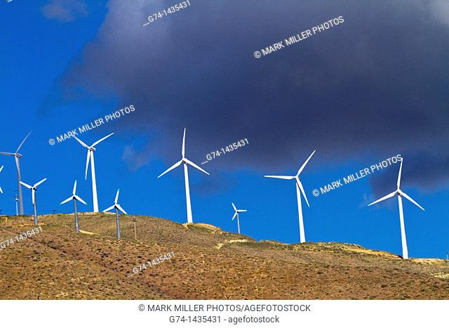 Modern windmills in Southern California, USA