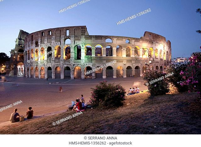 Italy, Lazio, Rome, historical center listed as World Heritage by UNESCO, Colosseo, Colisseum