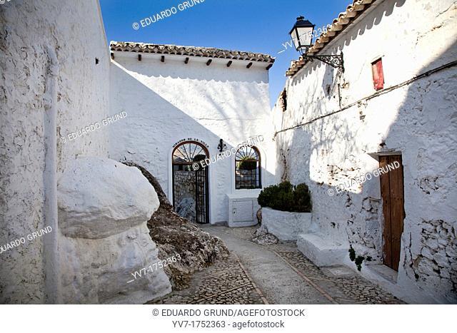 Entrance to Mirador de la Villa  Zuheros, Cordoba, Andalucia, Spain