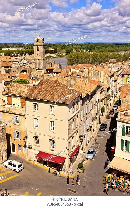 France, Arles, cityscape, rooftops
