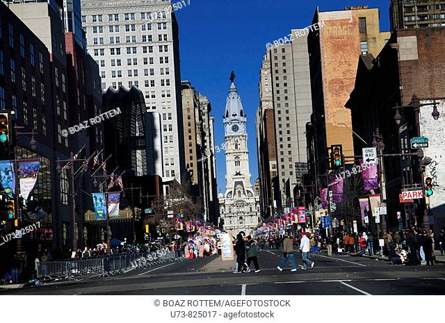 The famous Mummers parade on Broad street in Philadelphia