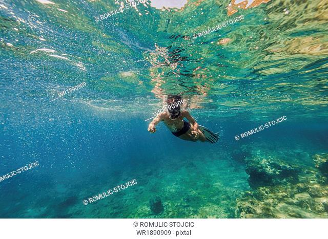 Diving into Water, Adriatic Sea, Dalmatia, Croatia