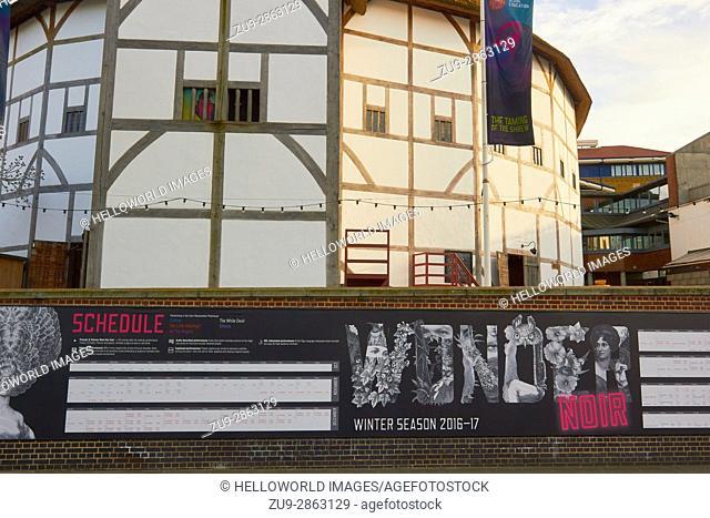 The Globe Theatre, South Bank, Southwark, London, England