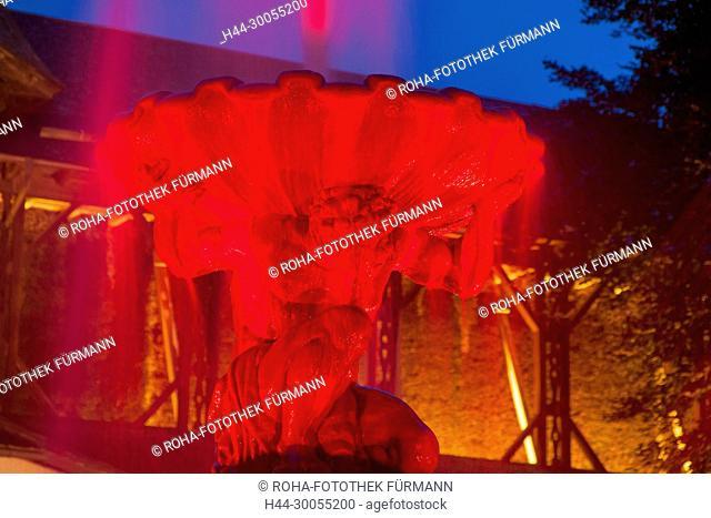 Bayern, Berchtesgadener Land, Berchtesgaden, Bad Reichenhall, Stadt, Reichenhall, Wasser, Kur, Gesundheit, Nacht, Nachtstunde, Abendstunde, Abend, blaue Stunde