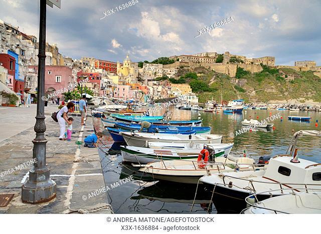 The Marina  Town of Coricella  Island of Procida  Italy