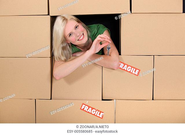 Handover of the flat Stock Photos and Images | age fotostock