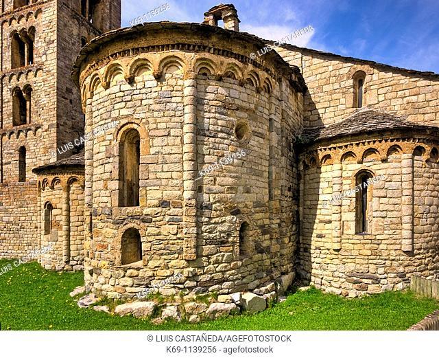 Church of Sant Climent de Taüll, Vall de Boi, Lleida province, Catalonia, Spain