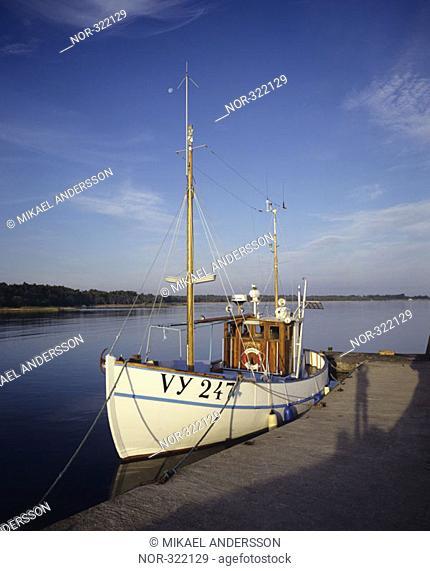 A yacht at a anchor