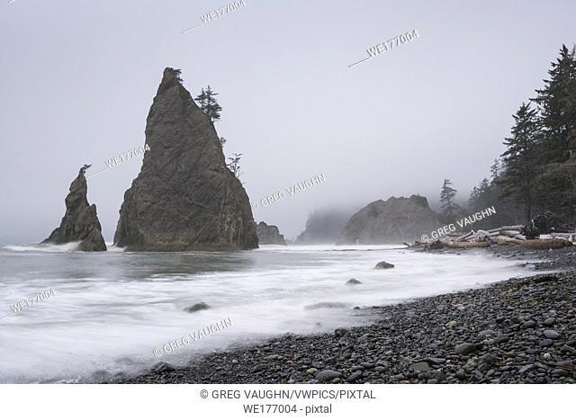 Sea stacks at Rialto Beach, Olympic National Park, Washington