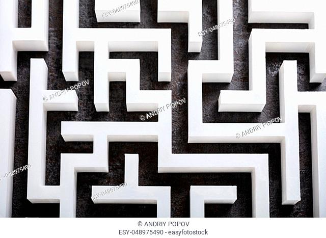 An Elevated View Of Abstract White Labyrinth