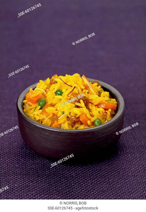 Vegetable and saffron Biryani