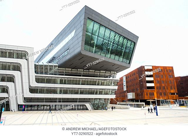 WU Campus Vienna, Vienna University of Economics and Business, LC, Library and Learning Centre, Austria