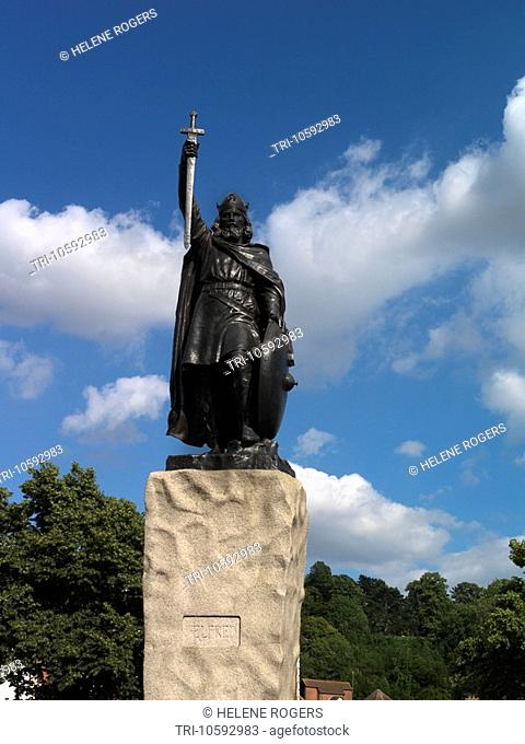 Winchester Hampshire Statue of Alfred the Great West Saxon King