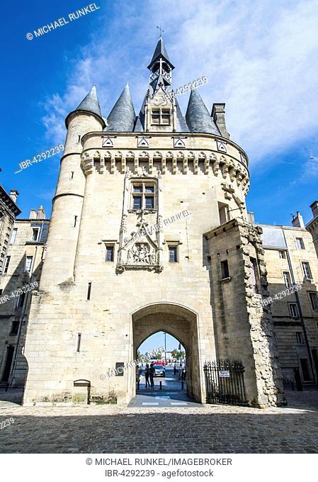 Porte Cailhau, historic city gate, Bordeaux, France