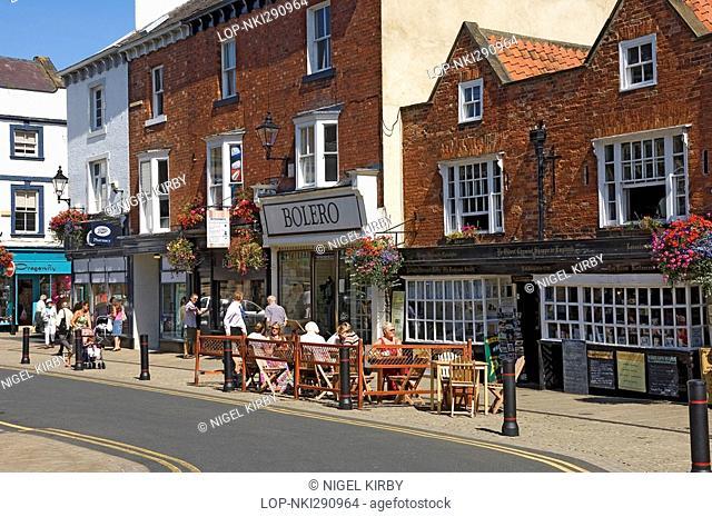 England, North Yorkshire, Knaresborough, Ye Oldest Chemist Shoppe in England, now a tea room and restaurant in Market Place, Knaresborough