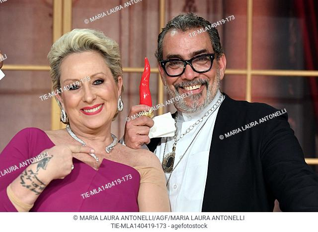 Carolyn Smith, Guillermo Mariotto at the talent show ' Ballando con le stelle ' (Dancing with the stars) Rome, ITALY-14-04-2019