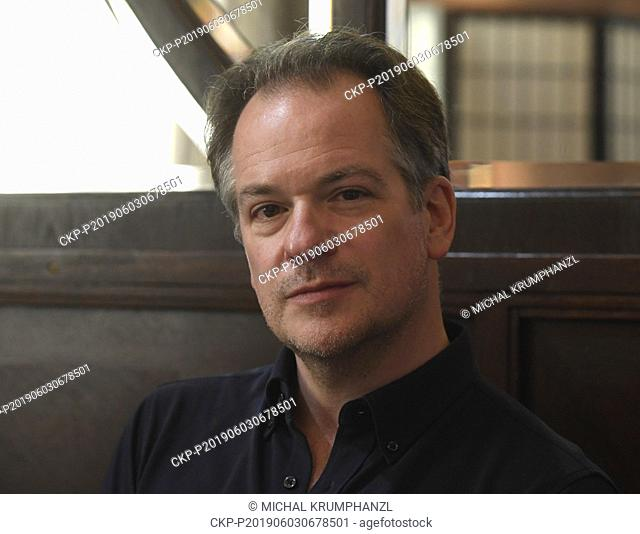 Emmanuel Pahud, French-Swiss flute player, attends a press conference within the 74th Prague Spring international music festival, on June 3, 2019, in Prague