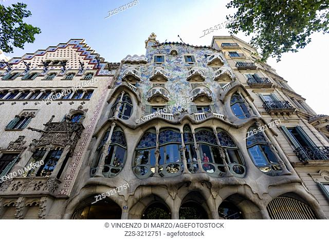 Casa Batllo by Antoni Gaudi. Barcelona, Spain