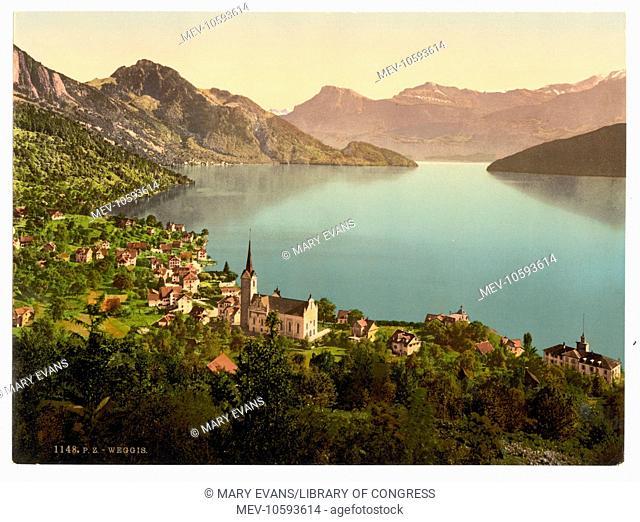 Weggis, Rigi, Switzerland. Date between ca. 1890 and ca. 1900