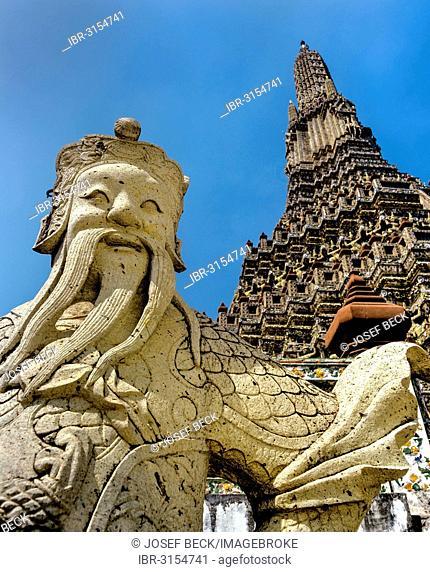 Wat Arun, Temple of Dawn, stone guardians