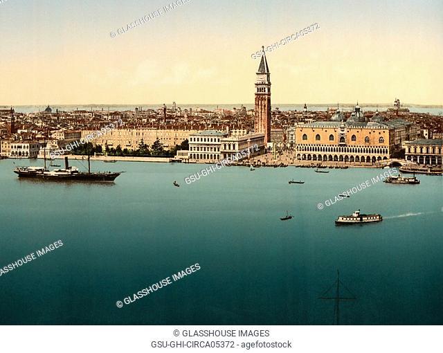 Doge's Palace, Venice, Italy, Photochrome Print, Detroit Publishing Company, 1900