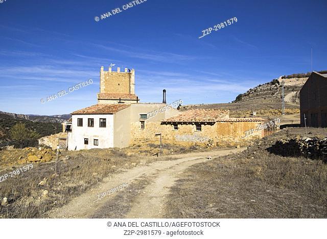 Medieval architecture Maestrazgo county. Teruel, Aragon, Spain