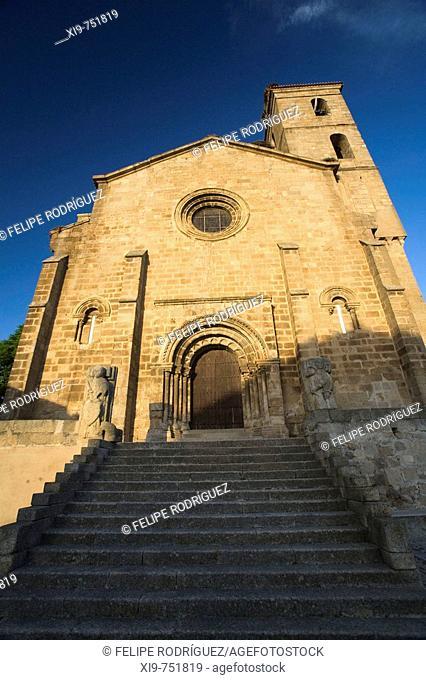 Church of Santa Maria de Almocovar built over an old mosque, Alcantara. Caceres province, Extremadura, Spain