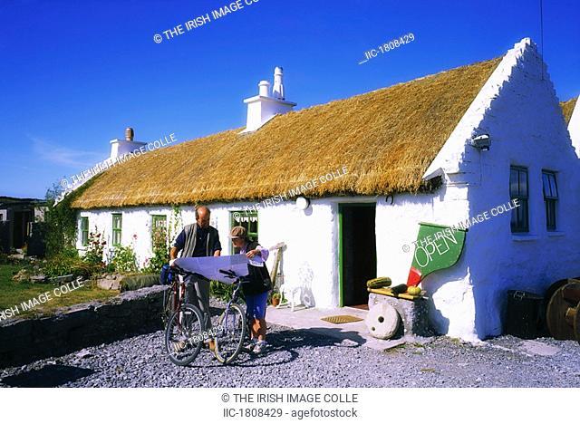 Man Of Aran Cottage, Inishmore, Aran Islands, Co Galway, Ireland