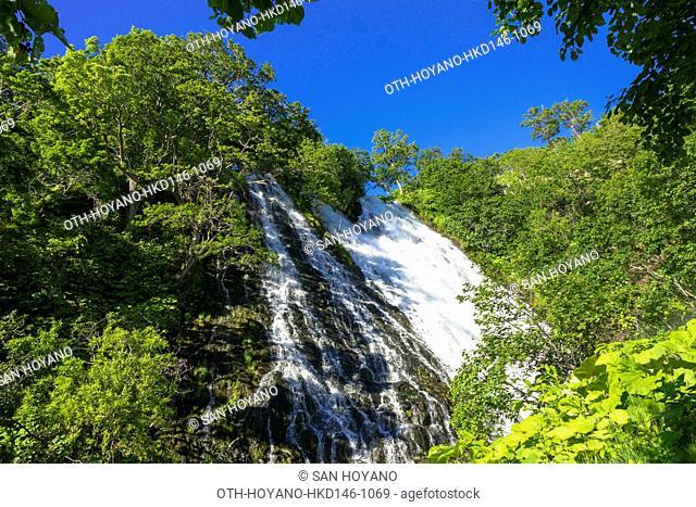 Oshinkoshin Falls, Shari-gun, Shari-cho, Siretoko Peninsula, Hokkaido, Japan