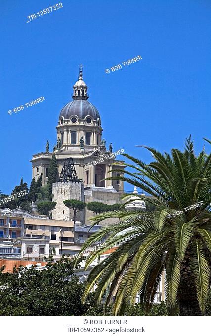 Shrine of Cristo Re Church Dome Messina Sicily Italy