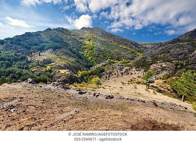 Granero peak in the Sierra Norte. Guadalajara. Castilla la Mancha. Spain. Europe