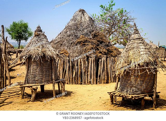 The Karo Tribal Village Of Kolcho, Lower Omo Valley, Ethiopia