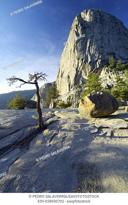 Liberty Cap in Yosemite National Park, California, United States