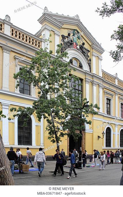 Chile, Santiago, Avenida Libertador General Bernardo O'Higgins, university