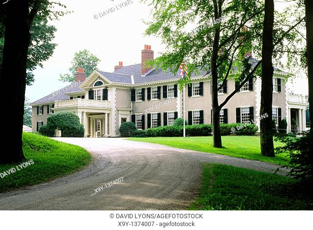 Hildene mansion house near Manchester, Vermont, USA  Built 1905 as home to Robert Todd Loncoln, son of Abraham Lincoln