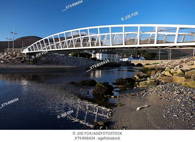 promenade footbridge over the river shimna in newcastle county down northern ireland