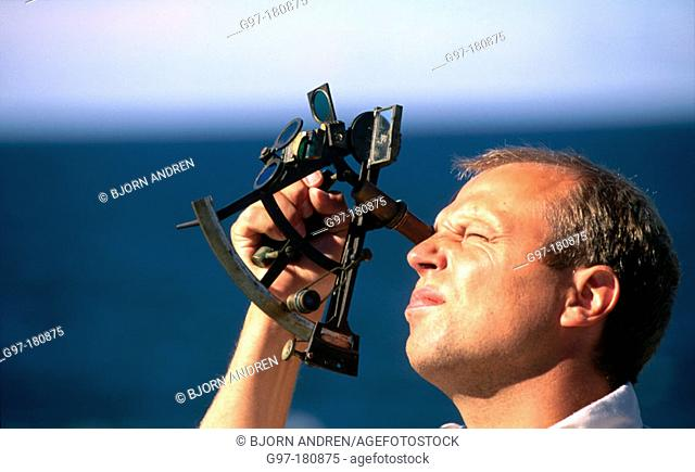 Man with sextant