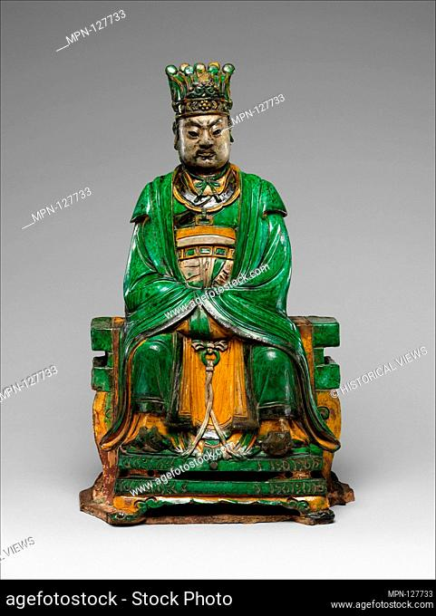 Daoist Deity, probably Heavenly Marshal Zhao (Zhao Gong Ming). Artist: Qiao Bin (Chinese, active 1481-1507); Period: Ming dynasty (1368-1644); Date: dated 1482;...