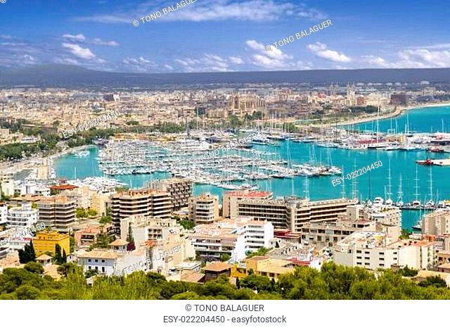 City of Palma de Mallorca in Majorca Balearic island