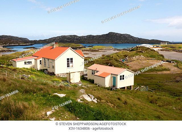 Europe, Scotland, Outer Hebrides, Grimsay - the small village of Kallin