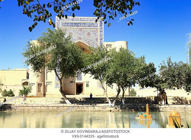 Bukhara, Uzbekistan - August 27, 2016: Lyabi Kauz Ensemble, a 16th Century architectural marvel and one of the historical place in Uzbekistan