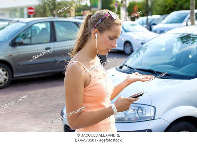 woman busy with her phone